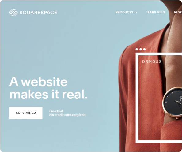 a square space website