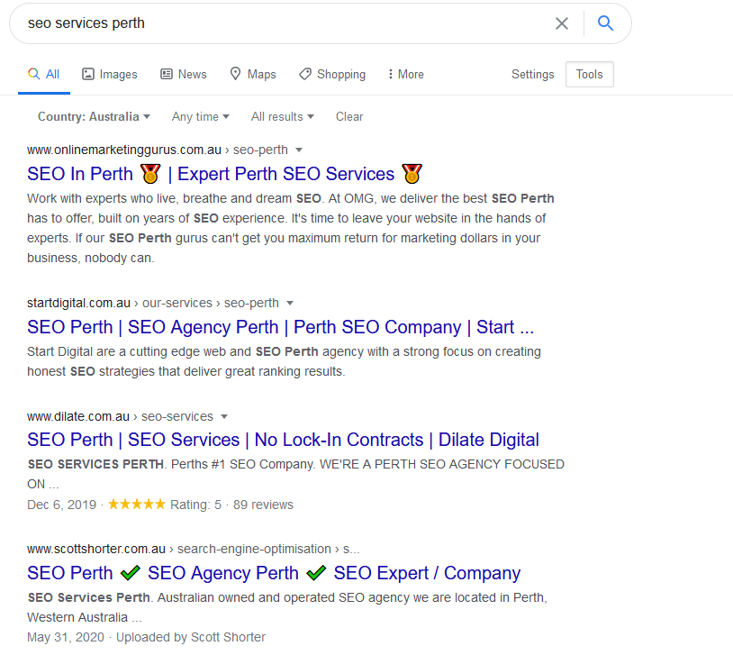 SEO Services Perth